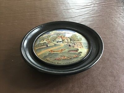 Framed Prattware pot lid