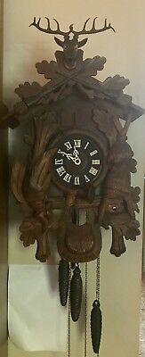 Vintage E. Schmeckenbecher  Black Forest CUCKOO CLOCK West Germany No. 7321