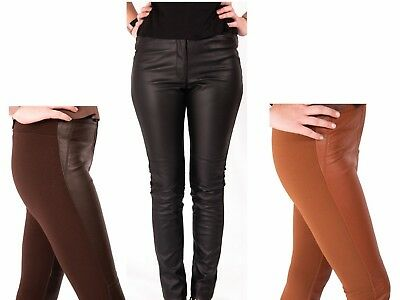 Leather Look Leggings Trousers H&m Stretch Pants Womens Size 6 Size 8 Size 10