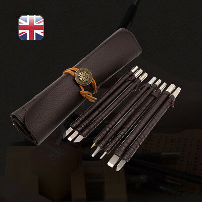 8pcs Alloy Tungsten Steel Sculpture Carving Wood Stone Seal Knife Tool Carpentry