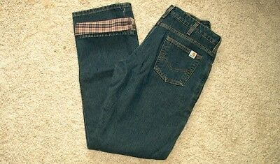 Carhart Women's Flannel Lined Jeans Size 4 X 32