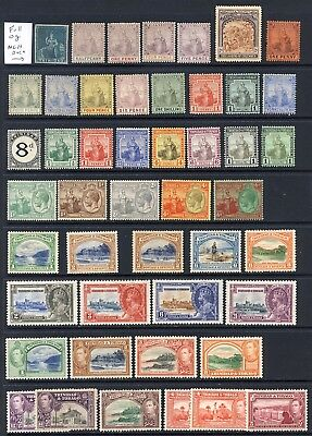 Trinidad and Tobago mlh vf collection 1851-1968 with King George V Jubilee 250-