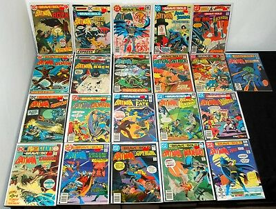 1973-83 Dc Brave And The Bold #108-196 Lower-Mid-Higher Grade Lot Of 21 L15