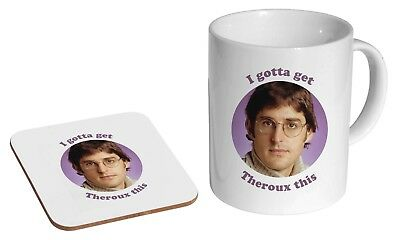 Louis Theroux Funny Ceramic Tea - Coffee Mug Coaster Gift Set