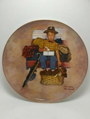 Norman Rockwell Scotty's Stowaway Plate #11974 First Edition 1981