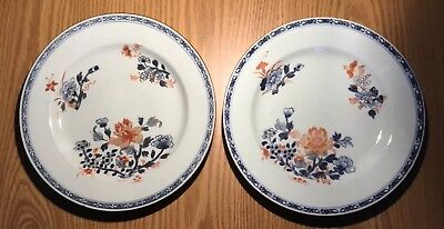 Chinese Matched Set 18-19th Century Export Porcelain Plates Decorated Floral