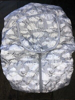 BRAND NEW! GO by Goldbug Clouds REVERSIBLE Carrier Car seat Cover