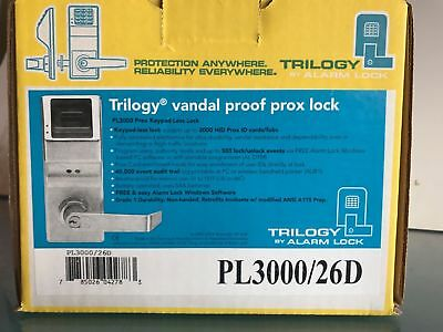 Alarm Lock Systems Inc. PDL3000 US26D Trilogy T3 Prox AND Keypad Cylindrical 26D