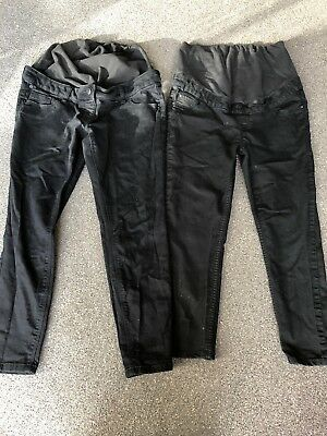 Over Bump Black Maternity Jeans x2 -size 12 New Look And Next