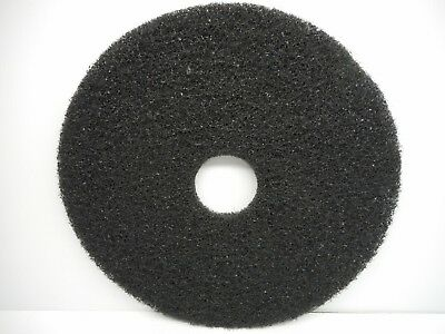 "One Essex Silver Line 17"" Black Floor Stripping Pad Disc"