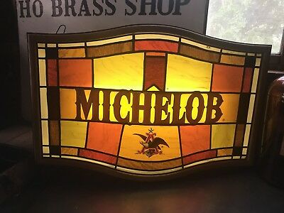 A Vintage Lighted Michelob Beer Sign