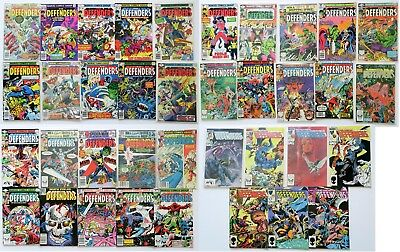 The Defenders Marvel Comics Group Comic Book Lot of 37 1977