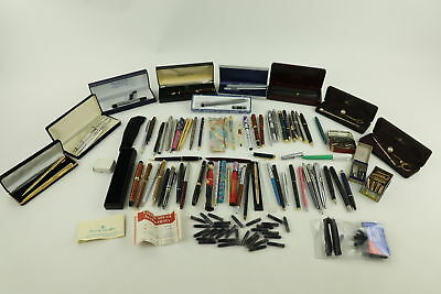 Job Lot of Vintage Writing instruments Mixed Inc. Ballpoints, Fountain Pens Etc