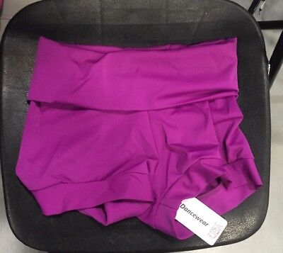 NEW Dance Costume Gymnastics Purple High Waisted Booty Shorts Adult Size M