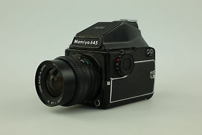 MAMIYA 645 Medium Format Camera With 55mm Lens Appears To Be Working