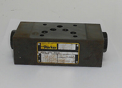Parker Hydraulic Check Valve Unit, CPOM3DDN, Used, WARRANTY