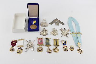 Job Lot of Assorted Vintage MASONIC, R.A.O.B & ROTARY CLUB Medals & Jewels