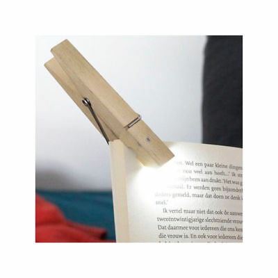 Kikkerland Clothespin Clip Light - New In Package