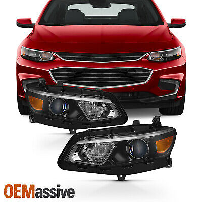 Fits 2016 2017 2018 Chevy Malibu Projector Headlights Complete Replacement Set