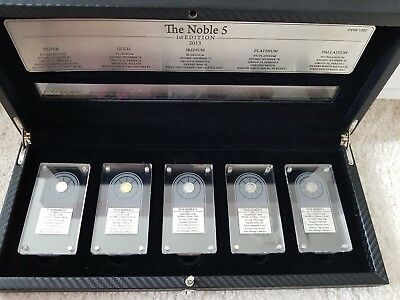 The Noble 5 - 1st Edition 2013 - Ruanda 5 x 10 Amafaranga 2013  Stgl. PP in OVP