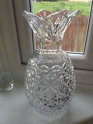 Waterford Crystal Pineapple Vase 12 45000 Picclick Uk