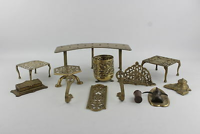 Job Lot of Assorted Decorative Brass & Other Metal Wares Inc. Vase, Trivets Etc