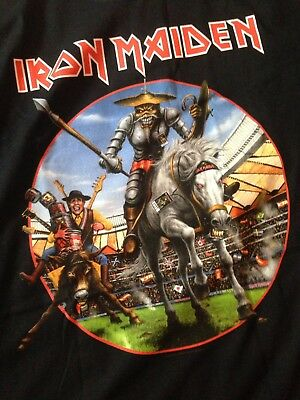 Iron Maiden XL Legacy Of The Beast Tour 2018 Madrid Spain Event T Shirt