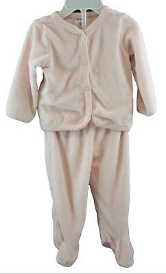 Carters Baby Girl Pink 2 Piece Teddy Bear Outfit Size 6 months