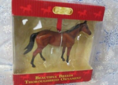 Breyer Christmas Ornament Beautiful Breeds Thoroughbred  new in box retired