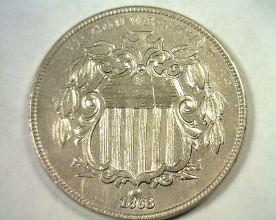 1868 Shield Fletcher F-04 Repunched Date Miss Leaf Extra Fine/about Uncirculated