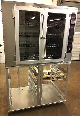 DeLuxe Electric Convect-A-Ray Bakery Oven On Stand Model CR-2-4