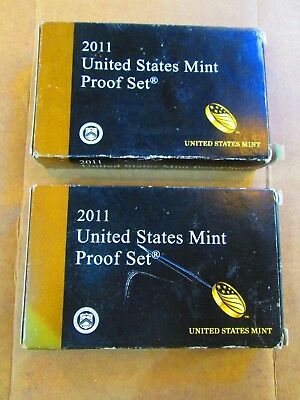 Lot of 2 United States Mint Proof set 2011-S 14 Coin Set