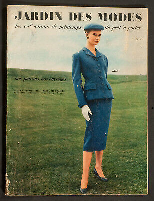 'jardin Des Modes' French Vintage Magazine Pret-A-Porter Issue February 1955