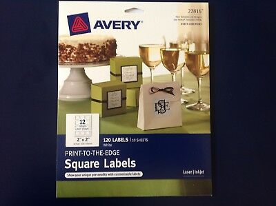avery print to the edge square labels 120 labels on 10 sheets laser
