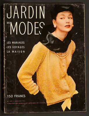 'jardin Des Modes' French Vintage Magazine New Year Issue January 1956