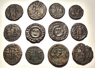 Lot of 12 Æ3-4 Ancient Roman Bronze Coins
