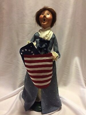 Byers Choice Caroler Patriotic Betsy Ross Colonial Williamsburg Collection
