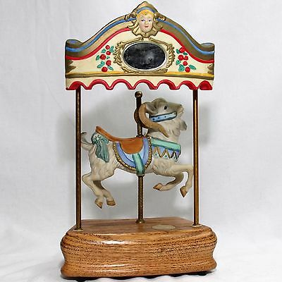 "Tobin Fraley 12"" Musical Carousel Goat Ram Numbered Signed"