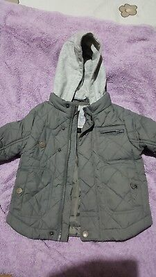 Next Baby Boys Quilted Coat/jacket age 9-12 months