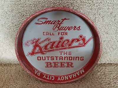 Vintage Kaier's Beer - Brewing Co Metal Tin Litho Tray Mahanoy City Pa