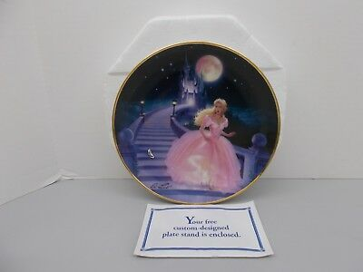 The Magic of Cinderella with Glass Slipper by Franklin Mint Numbered plate 8""