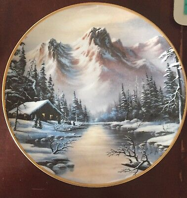 Peaceful Solitude Collector Plate Franklin Mint Gold Trim