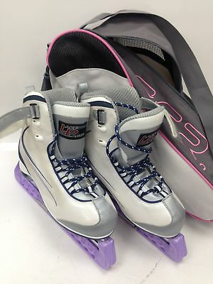 Ladies Lake Placid  Recreational ICE Skates size 7 with carry bag#127