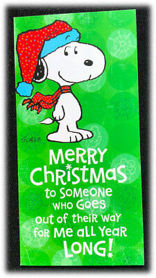 Snoopy Merry Christmas Images.Vintage Hallmark Peanuts Snoopy Merry Christmas Holidays Money Gift Card Holder