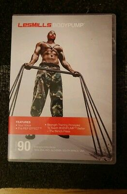 Les Mills Body Pump 90 - CD, DVD and notes, hardly used