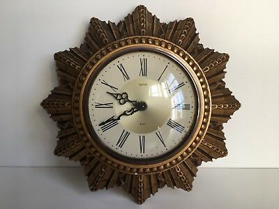 Vintage SMITHS 8 day Starburst Hand Wind Wall Clock-Non Runner- For Spares