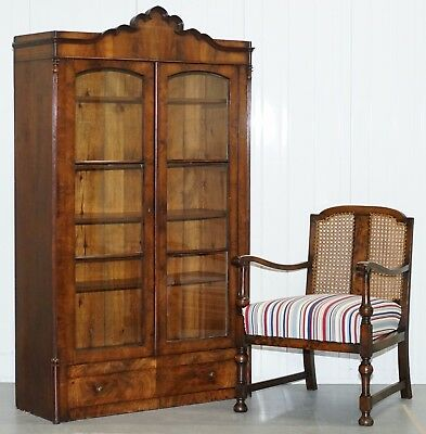 Regency Circa 1815 Mahogany Arched Top Bookcase Display Cabinet 171.5Cm Tall