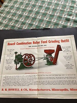 Howell and company hit miss engine and grinder advertising