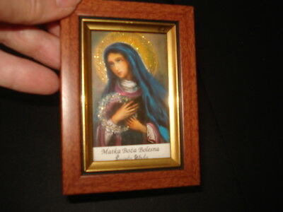 PAIR of VINTAGE POLISH RELIGIOUS PICTURES Both in Vintage Frames
