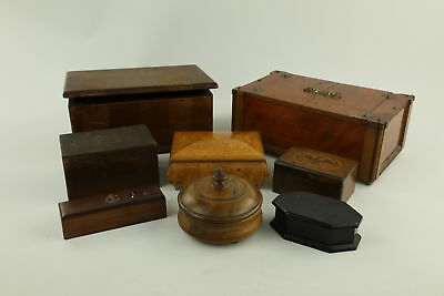 8 x Vintage Decorative WOODEN Boxes Inc. Working Musical, Ebony etc